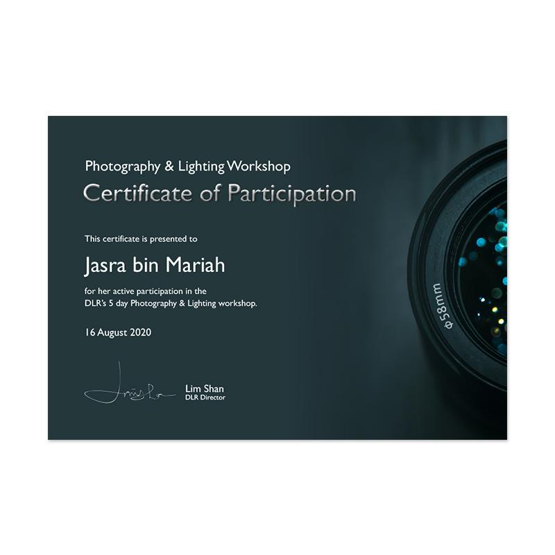 Participation Cert