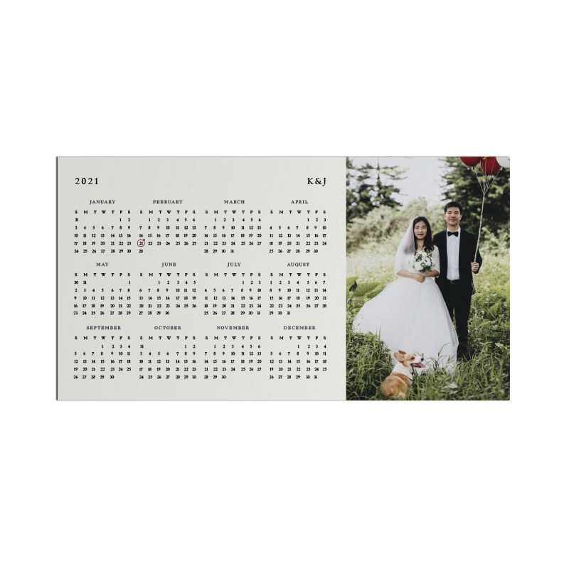 Magnet Calendar - Couple