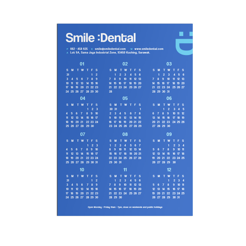 Magnet Calendar - Dental