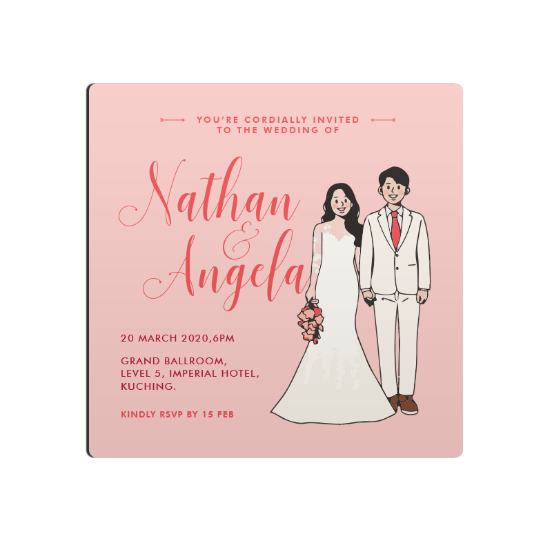 Magnet Invitation - Wedding