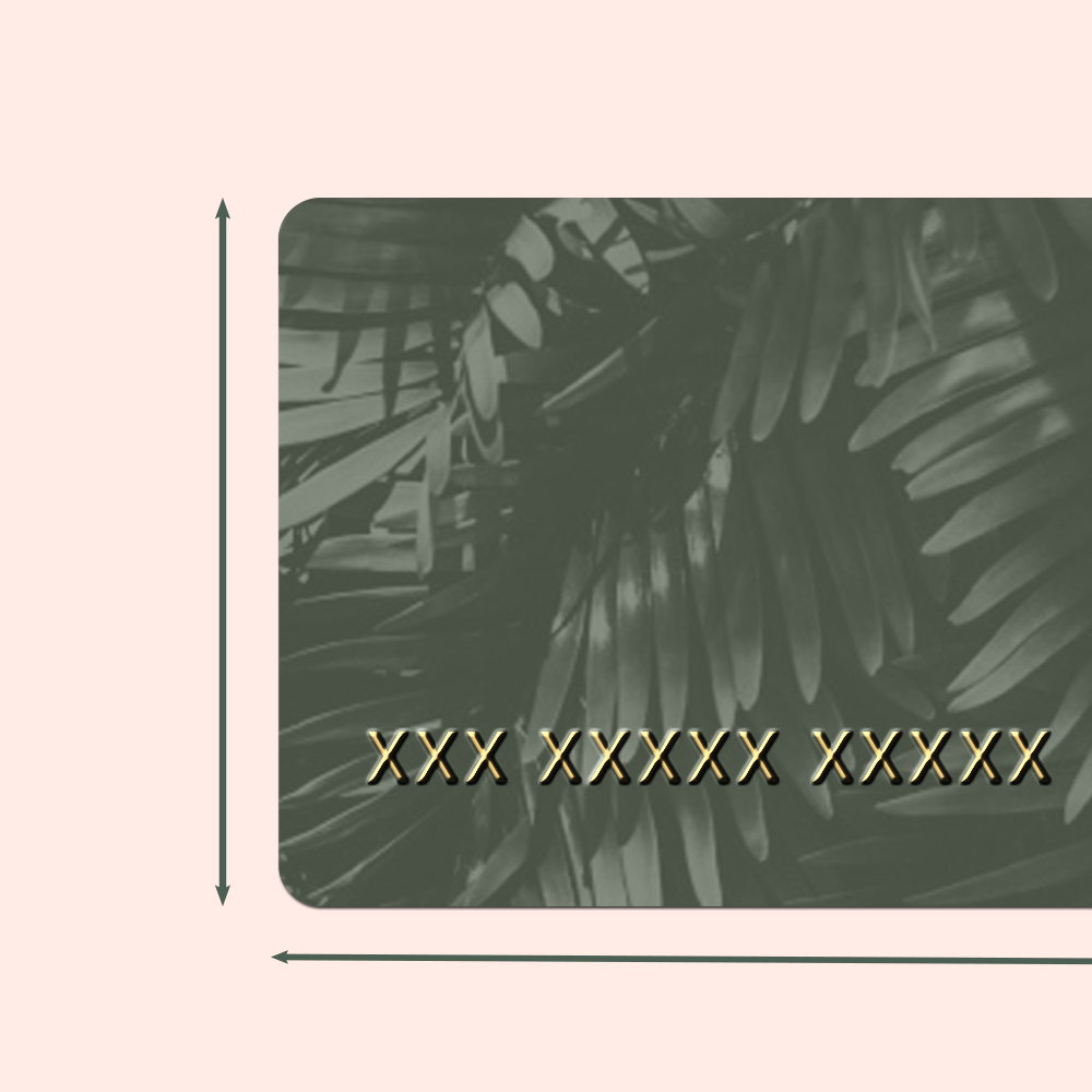Member Card Size