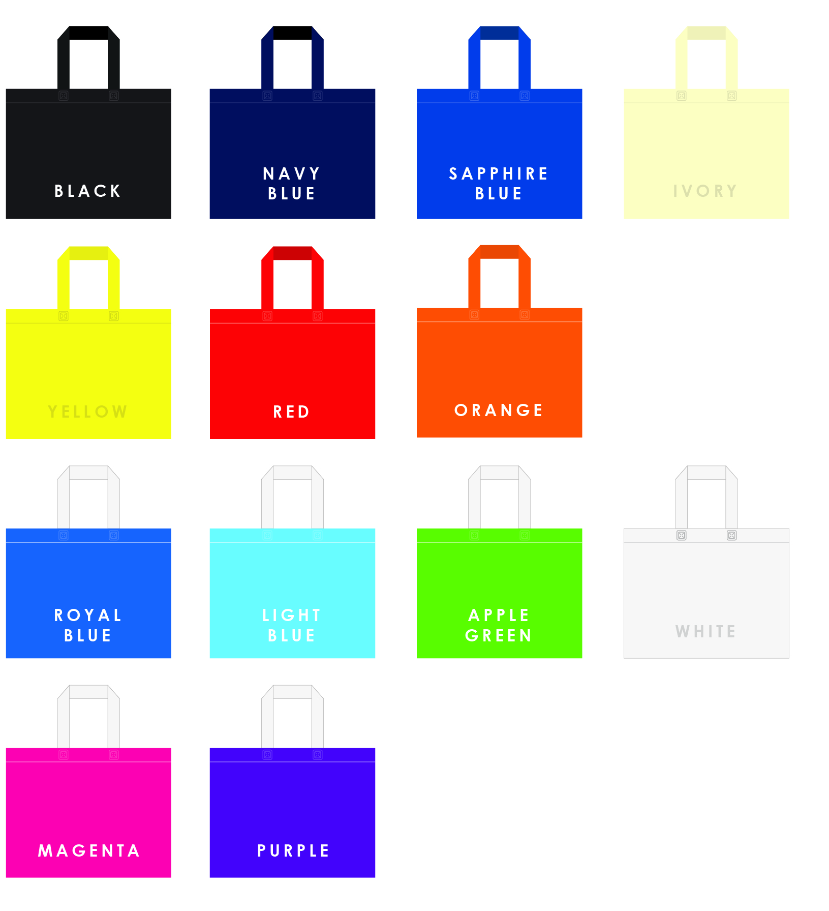 A3 Bag Colours