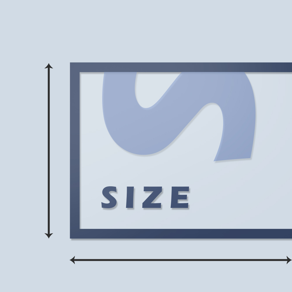 Static Cling Size